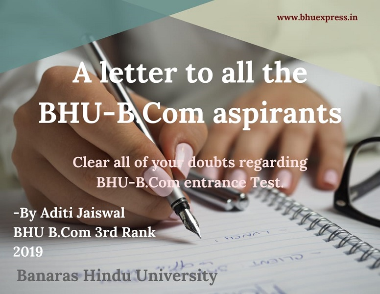 A Letter to all the BHU B.Com Aspirants