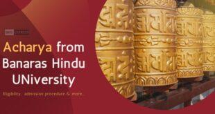 Acharya From Banaras Hindu University