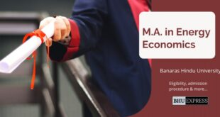 M.A. in Energy Economics from Banaras Hindu University