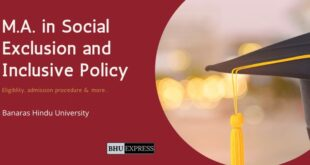 M.A. in Social Exclusion and Inclusive Policy at BHU